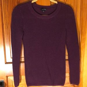 The limited cotton blend sweater in purple XS
